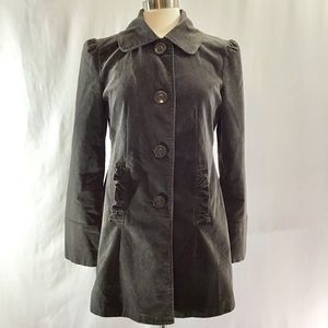 Tulle gray pea coat size L